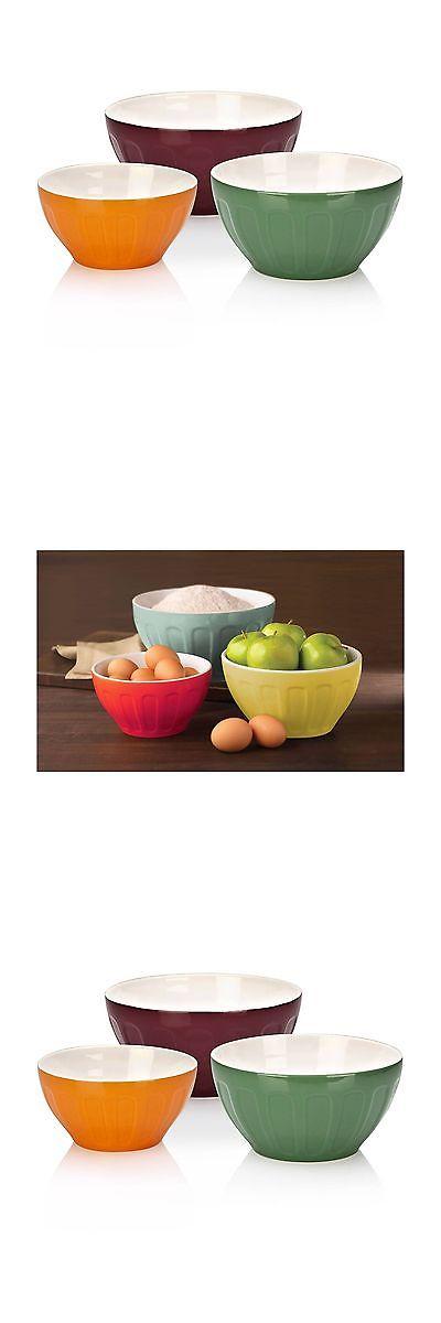 Mixing Bowls 20642: Good Cook Ovenfresh Stoneware 3-Piece Mixing ...
