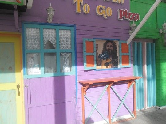 To go pizza,  San Andrés island's