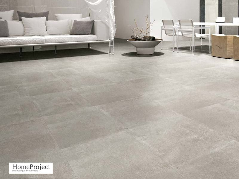 Carrelage ciment gris 60 x 60 cm naturel rectifi for Carrelage 75x75