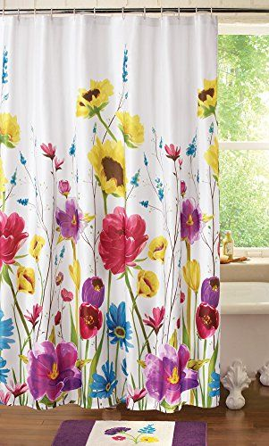 Collections Etc Floral Prisma Bathroom Shower Curtain Col Http Www Amazon Com Dp B00tlaq Girls Shower Curtain Pretty Shower Curtains Flower Shower Curtain