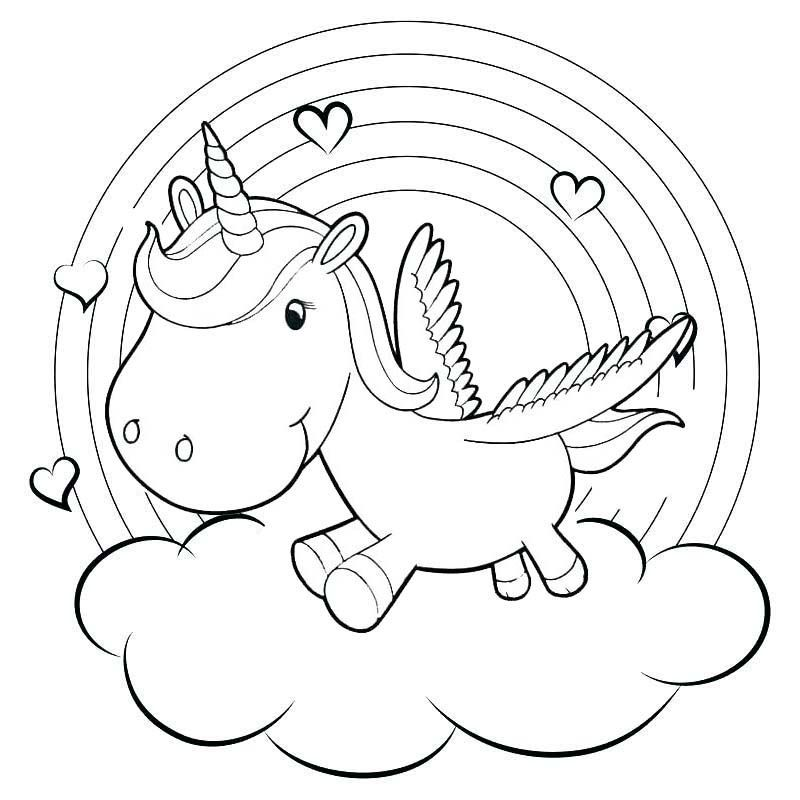 17+ Cute baby unicorn coloring pages inspirations