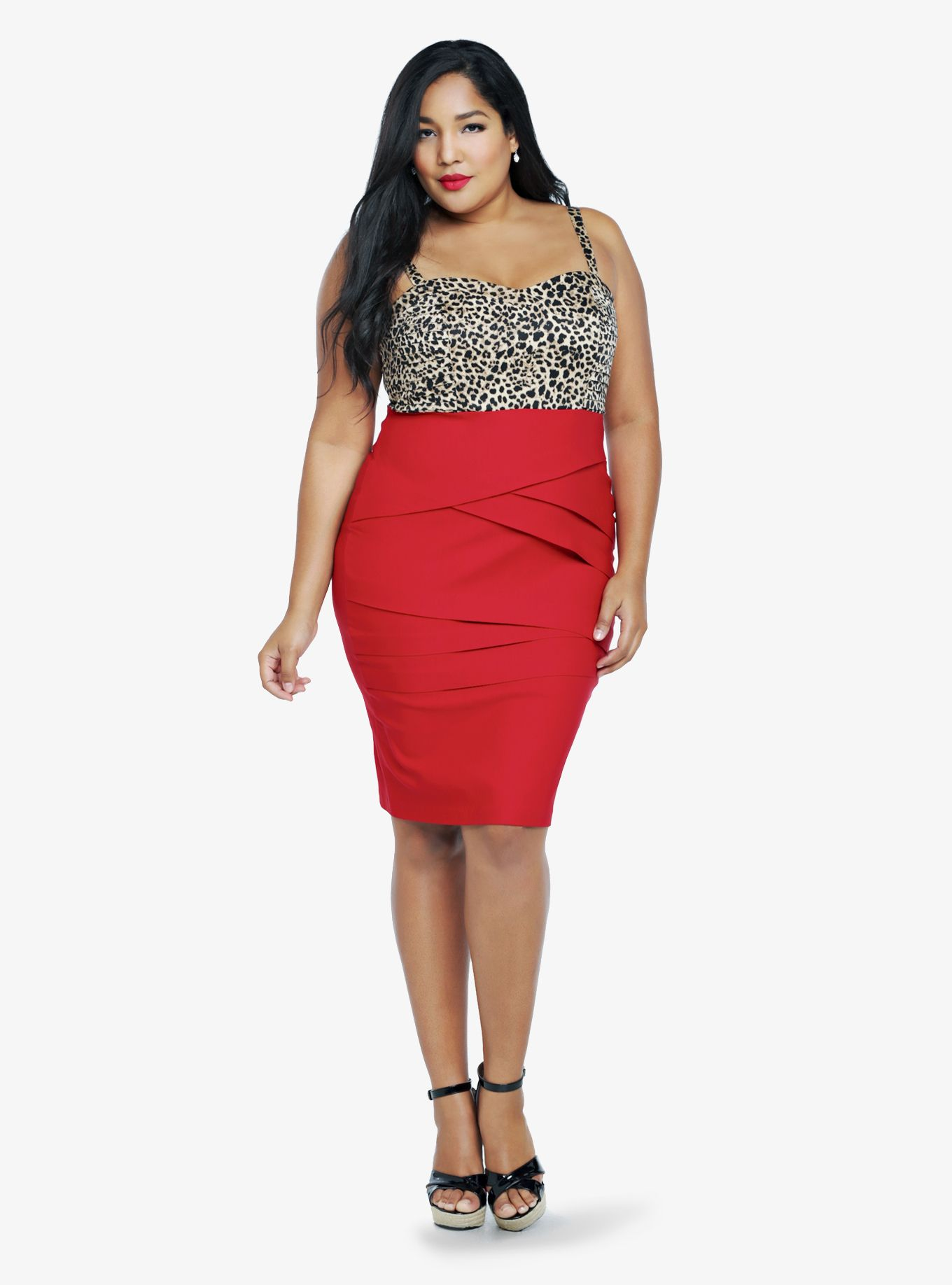 Is there anything sexier than leopard paired with traffic-stopping red?!