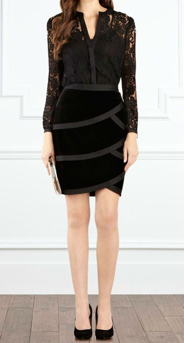 17679b4fe1 Conjunto de falda y blusa en negro.