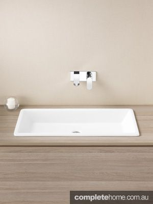 Designer Bathroom Sinks Basins Polytec Ravine Natural Oak And Grigio Marble Laminate  Polytec