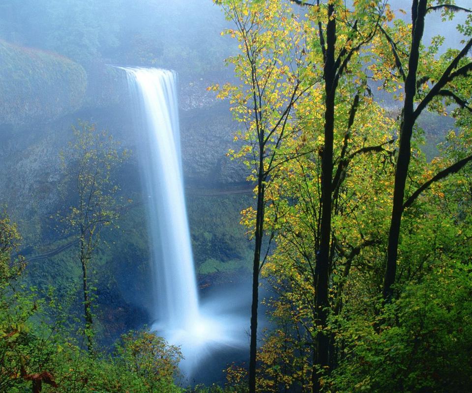 Spring Scenery Screensavers download mountain waterfall