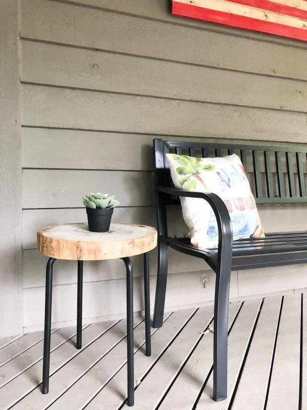 DIY Side Table for Under $15 | Diy outdoor table, Rustic ...