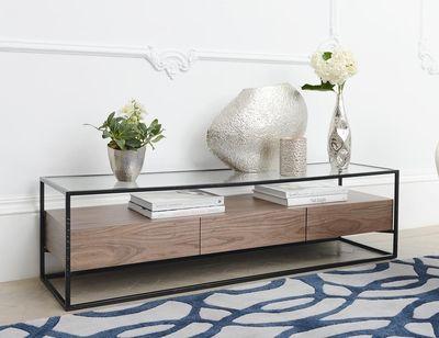 Drift TV unit with drawers walnut   Furniture   Pinterest