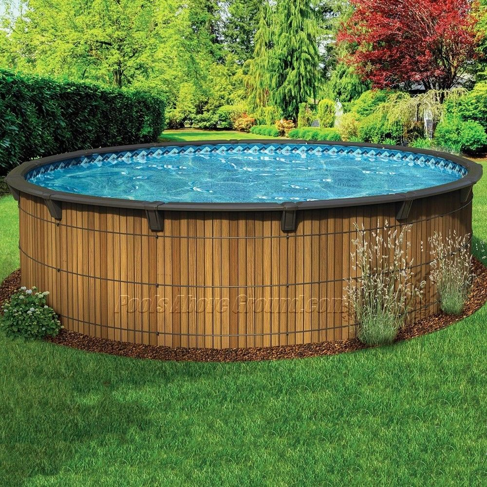 wooden pools wood above ground swimming pools home pinterest