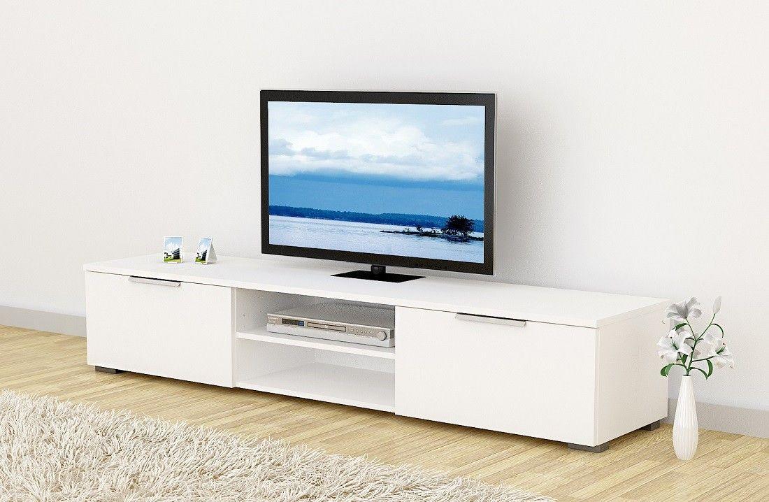 Matc tv-taso 173 cm korkeakiilto valkoinen