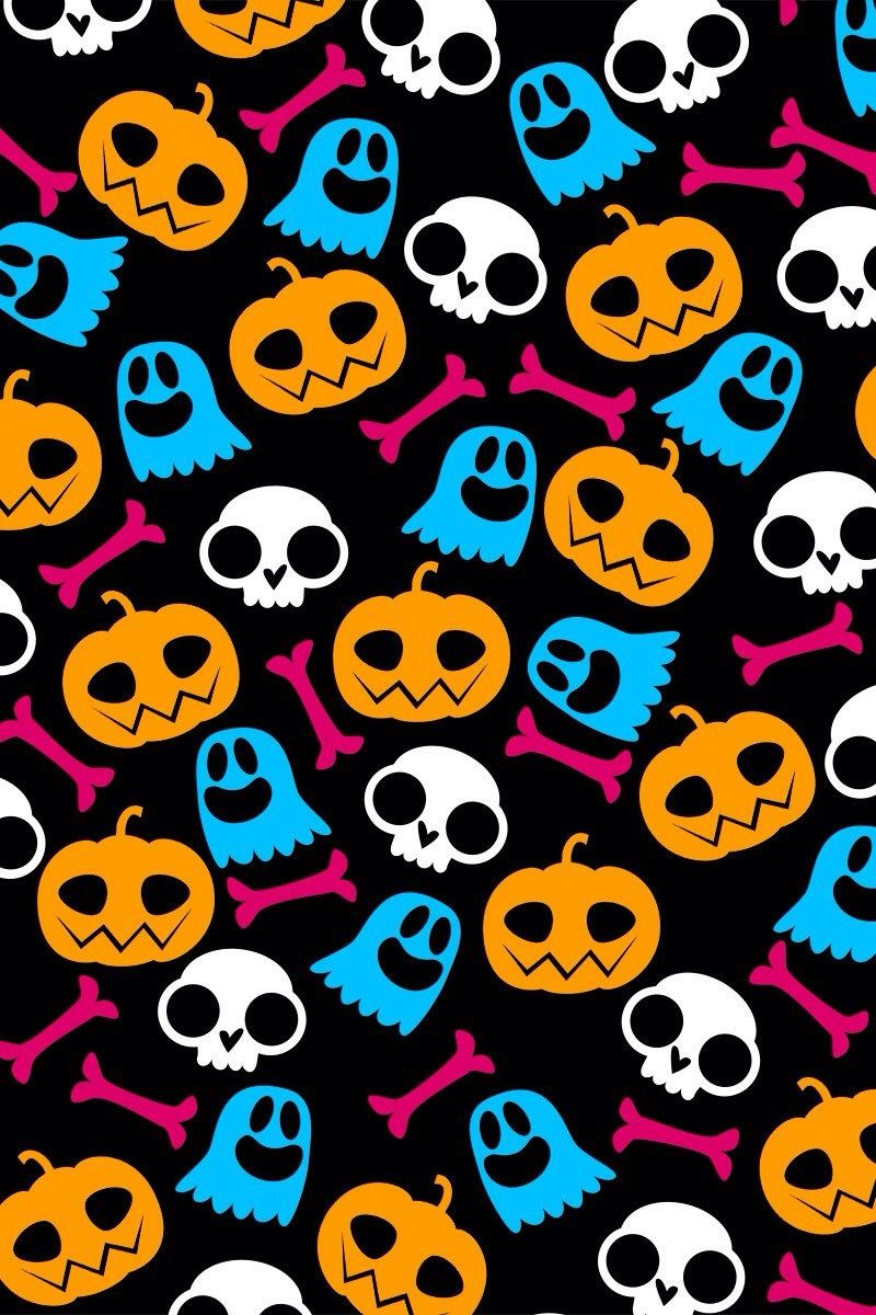 Halloween Wallpaper Iphone Skull Holiday Images Clipart Happy Backgrounds Phone