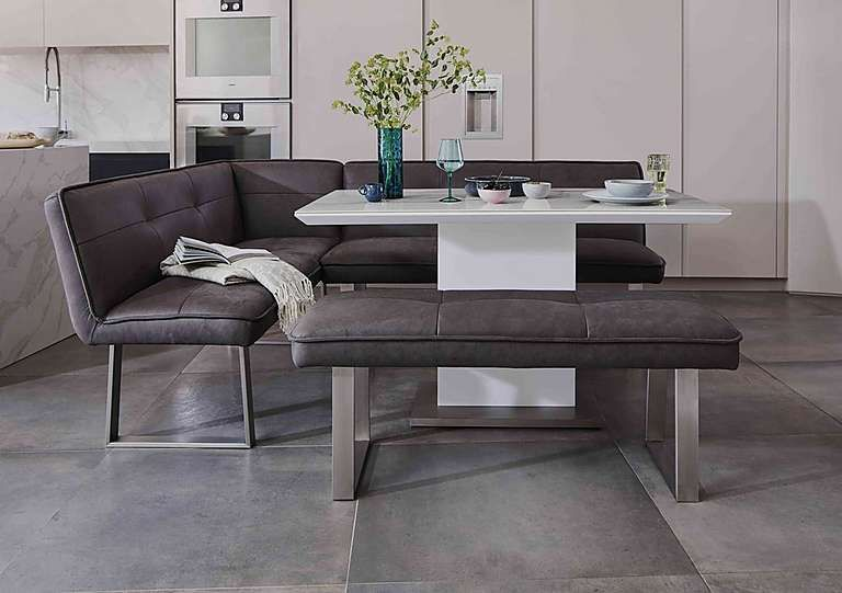 Central Park Dining Table Left Hand Facing Corner Bench And Standard Bench Multi Saver Set Dining Table With Bench Corner Dining Table Ceramic Dining Table