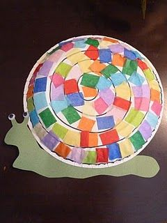 Snail paper plate craft - letter s Hartl/Heitk&? & Creatures in the garden/Digging in the garden. Toddlers and ...