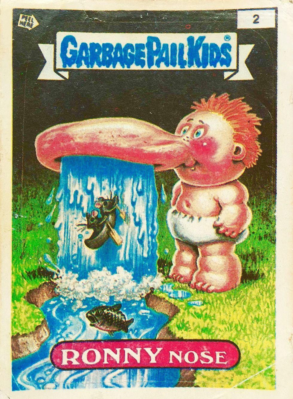 Ronny Nose Garbage Pail Kids Garbage Pail Kids Cards Garbage Pail Kids Kids Stickers