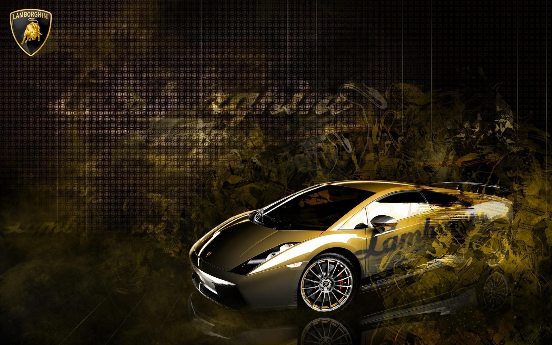 Lamborghini Gallardo Gold CarWallpaper