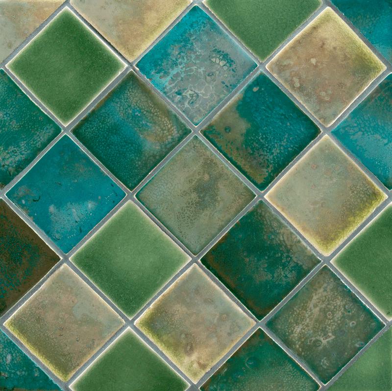 Ceramic Art Tile Fire And Earth Ann Sacks Tile Stone Flooring Ann Sacks Tiles Bathroom Tile Designs