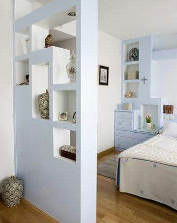 Divisi n pared paredes en 2019 living room divider - Separador de espacios ...