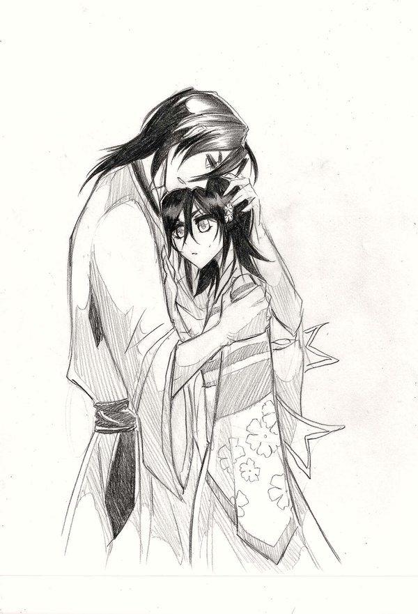 Byakuya e Hisana by Khierz.deviantart.com on @deviantART