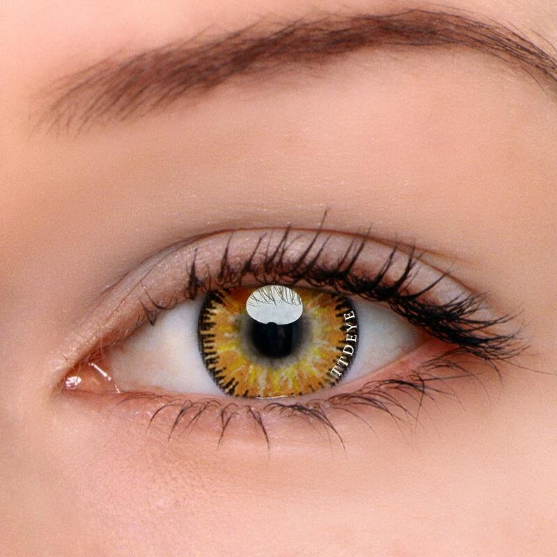 Ttdeye Mystery Yellow Colored Contact Lenses Contact Lenses Colored Colored Contacts Colored Eye Contacts
