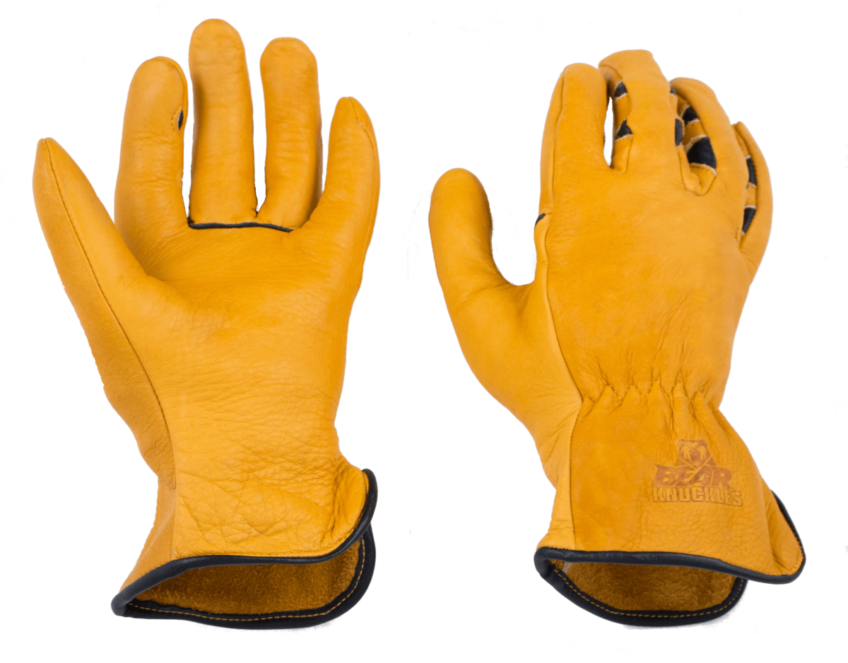 First Edition Double Wedge Cowhide Work Gloves Bear Knuckles Leather Work Gloves Work Gloves Gloves