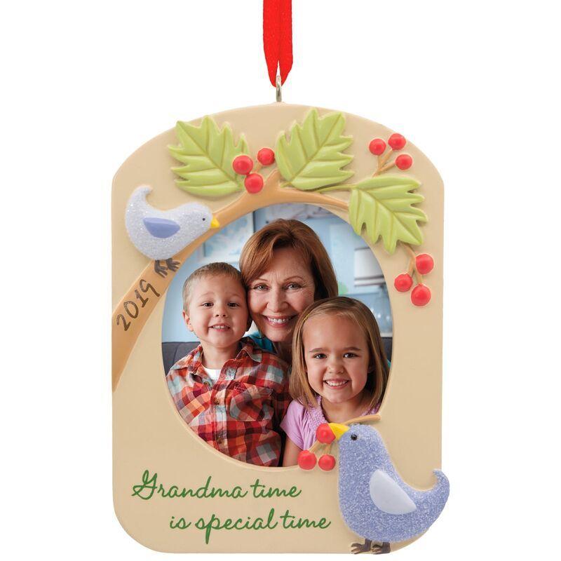 Grandma 2019 Photo Frame Hallmark Ornament Photo Frame Ornaments