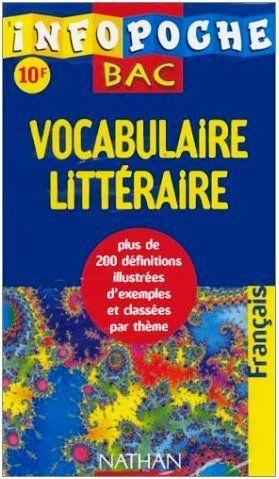 Ebooks Gratuits En Ligne Infopoche Bac Vocabulaire Litteraire Book Cover Ebooks Books