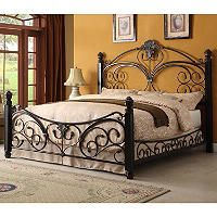 I Want This Bed Alysa Metal King Bed With Decorative Side Rails