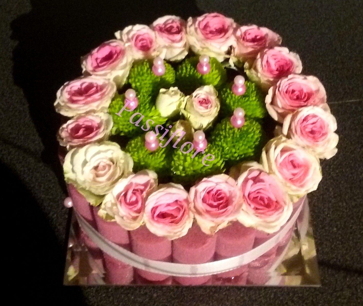 G teau de fleurs compositions florales pinterest - Composition florale anniversaire ...