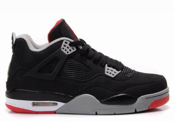 308497-089 Air Jordan Retro 4 bred (noir / ciment gris / rouge)