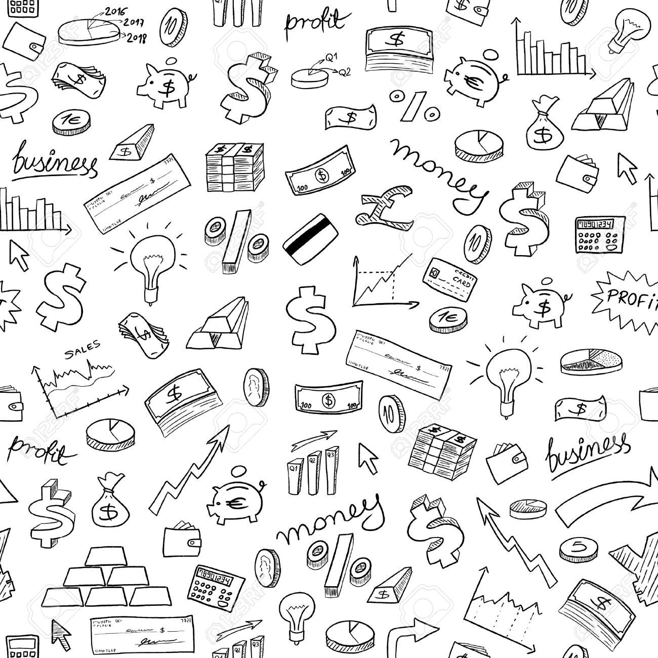 Doodle Style Seamless Background