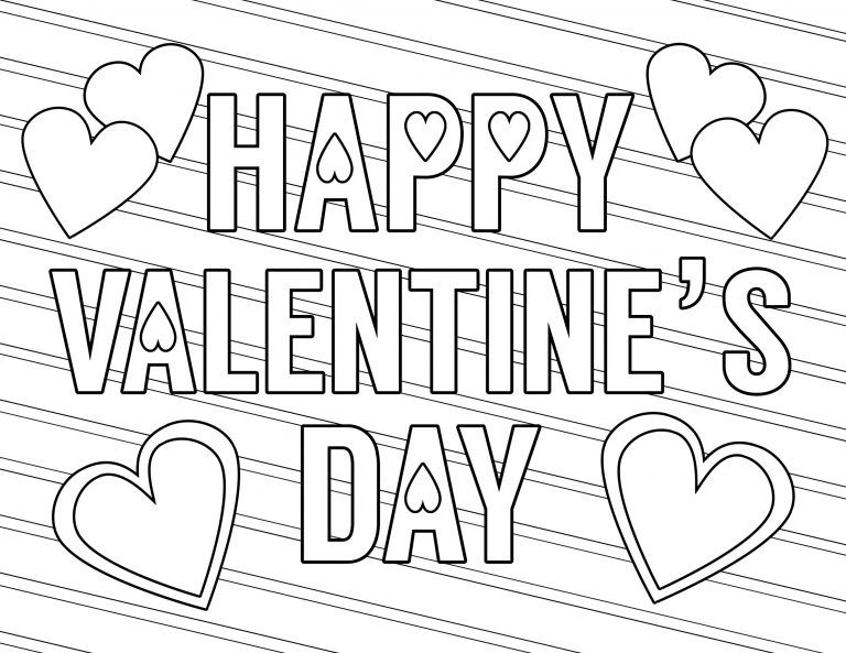 Free Printable Valentine Coloring Pages Printable Valentines