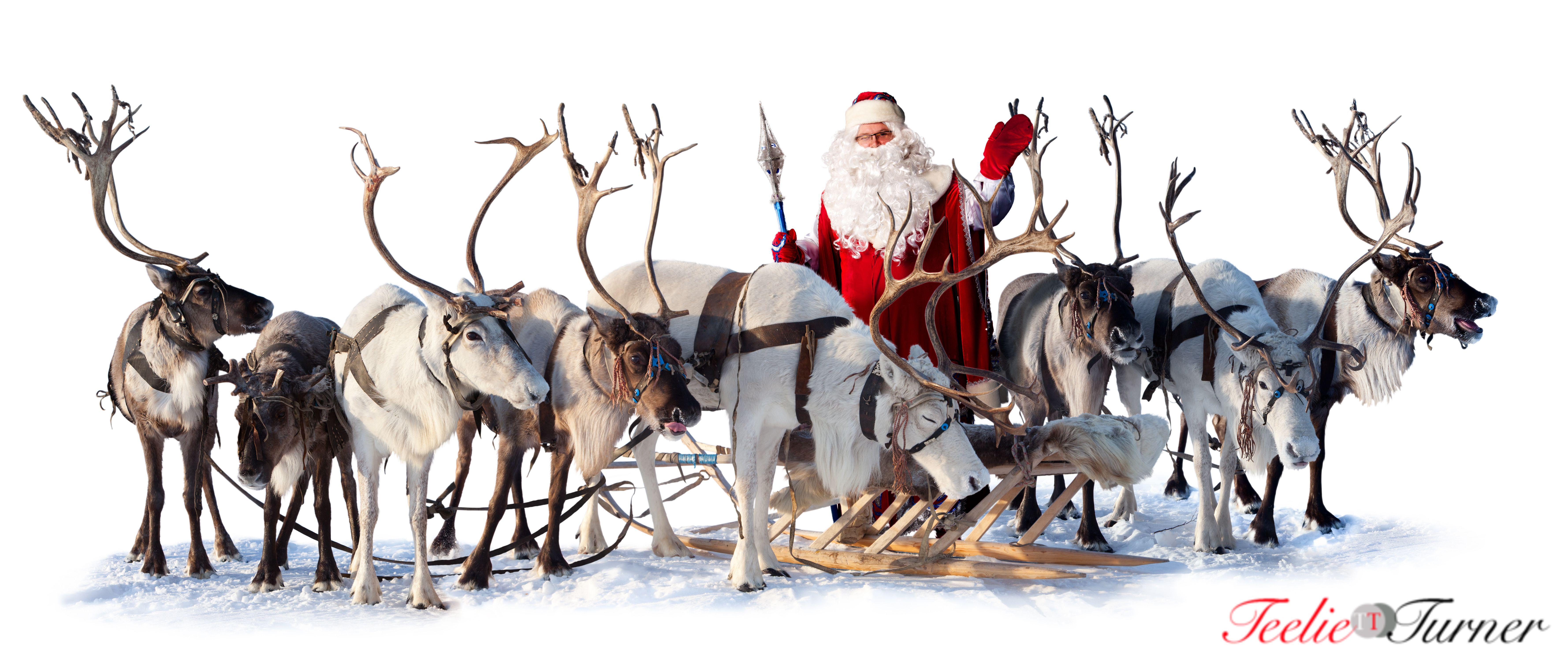 Santa Claus Reindeer Sleigh Www Teelieturner Com Christmas Santa Claus Photos Reindeer And Sleigh Santa