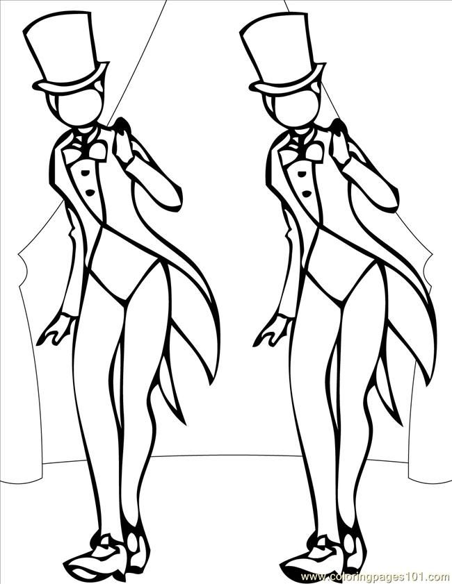 tap dance coloring pages more