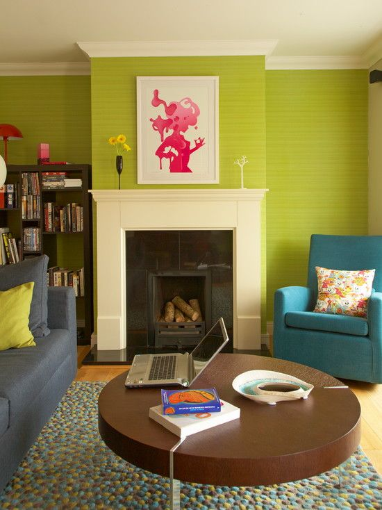 Lime Green Living Room Decorations Affordable Area Rugs I Love This Chartruese Wall Paper Hang Me