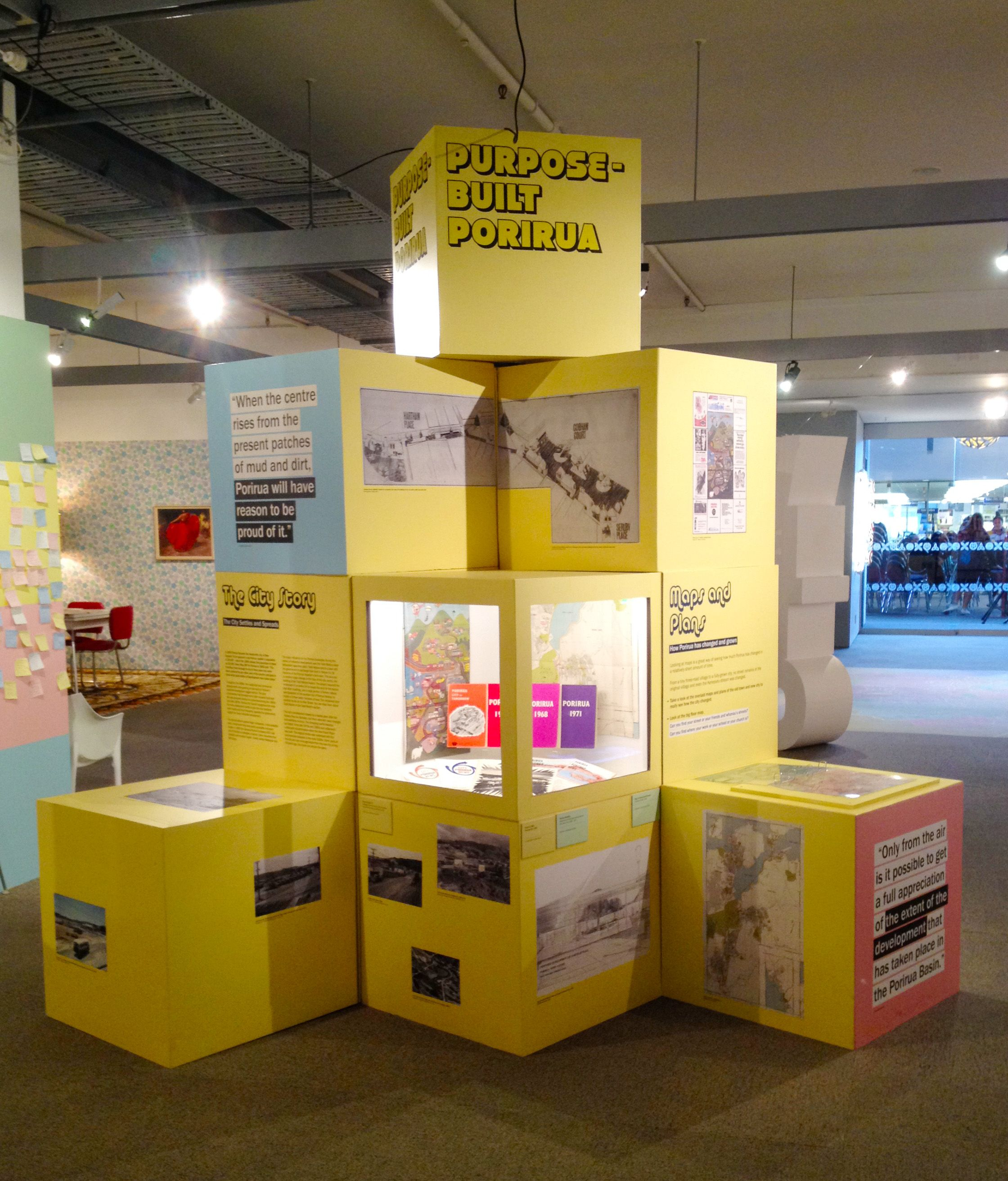 Built City Exhibition Pataka Art Museum In Porirua Nz #boxes Design