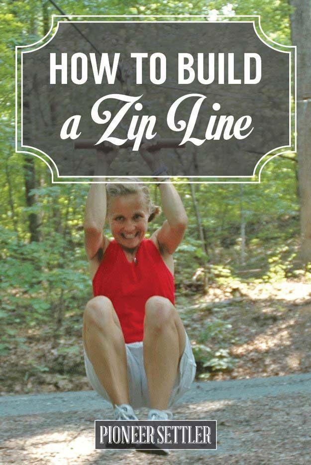 How to Build a Zip Line on Your Homestead | Diy zipline ...