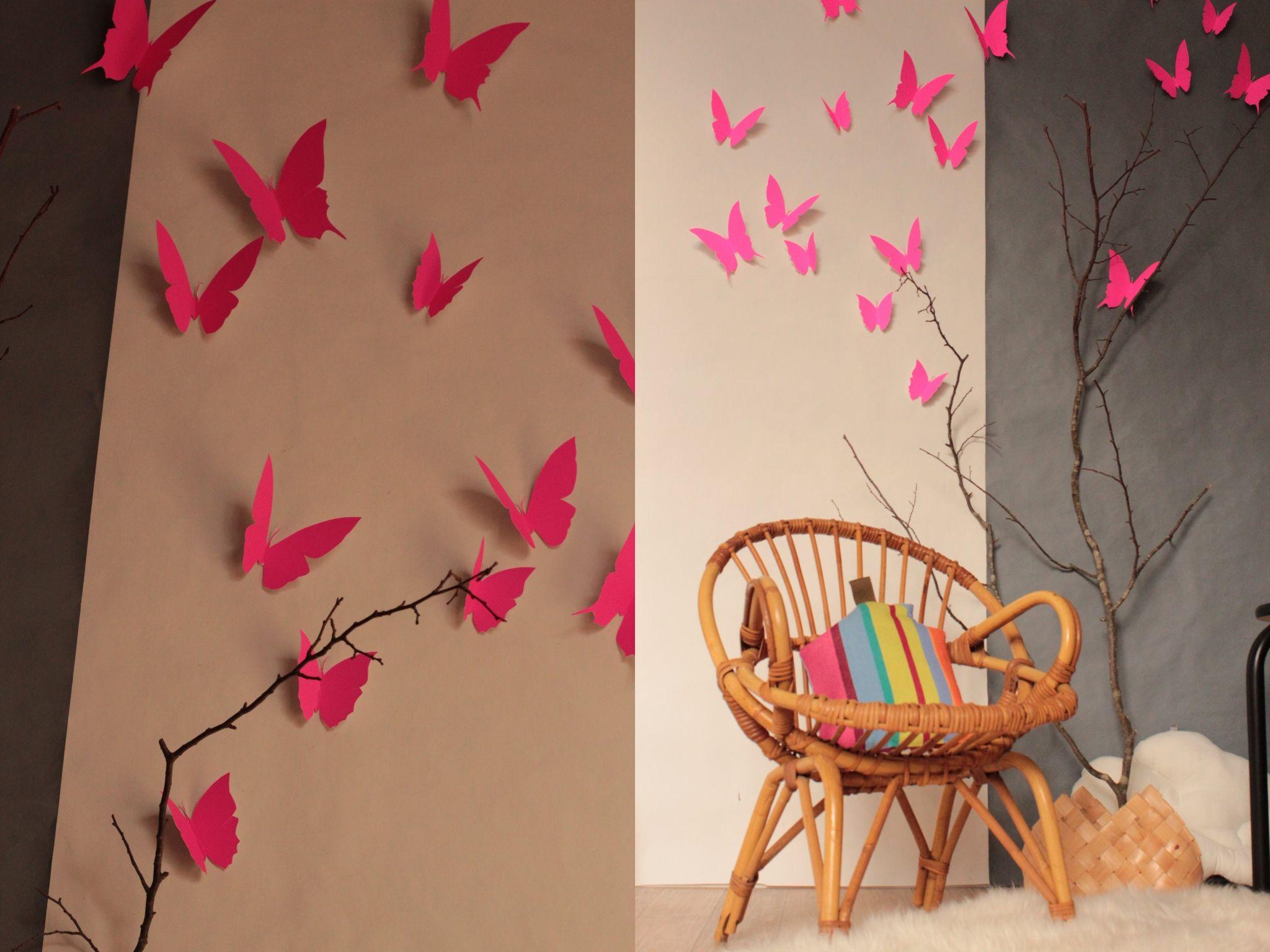 Envolée de papillons fluo TRENDY LITTLE