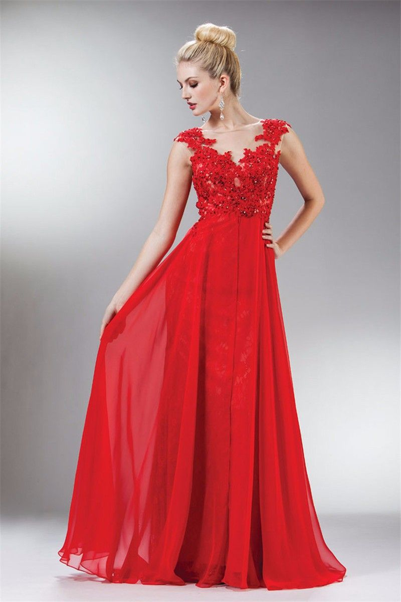 Find more evening dresses information about fashion elegant red
