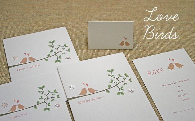 Lovebirds Wedding Stationery