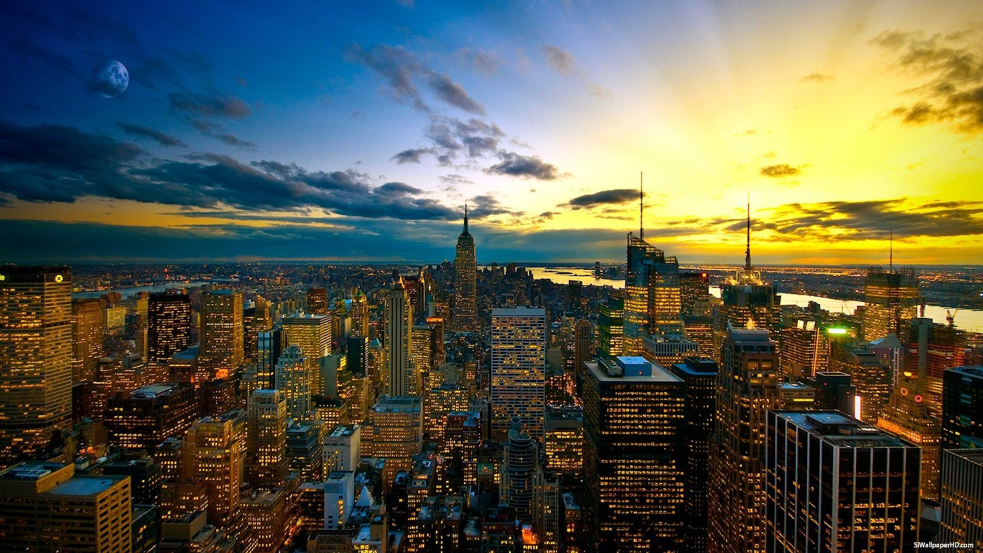 NY City Skyline Wallpaper 1920x1080 New York 45 Wallpapers