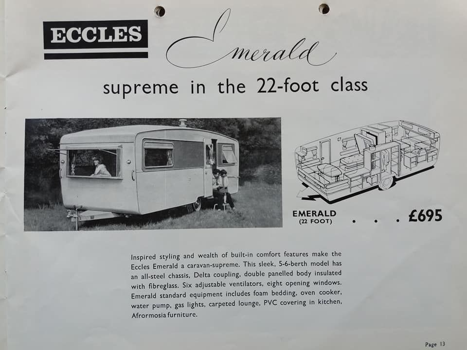 Eccles Emerald Brochure Trailer Living Vintage Rv Trailer Home