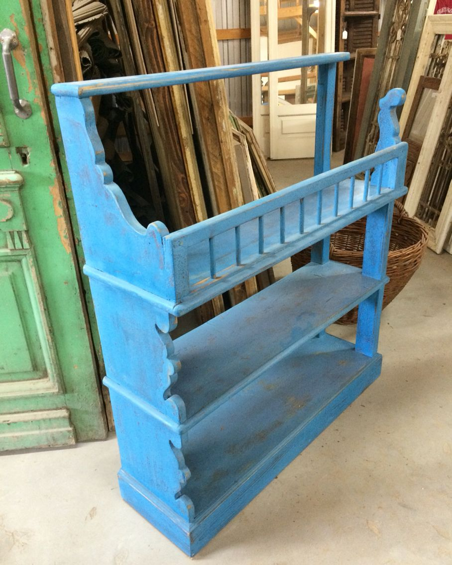 Unique blue antique kitchen shelf! | Unique furnishings | Pinterest ...