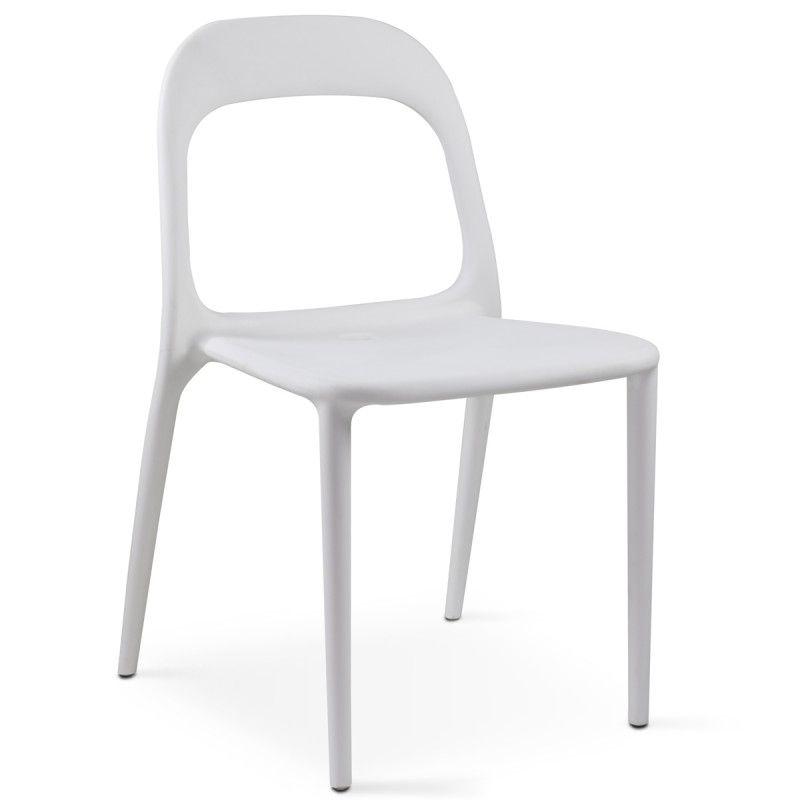 Chaise Blanche En Plastique Mobeventpro Chaises Blanches Chaise Plastique Chaise