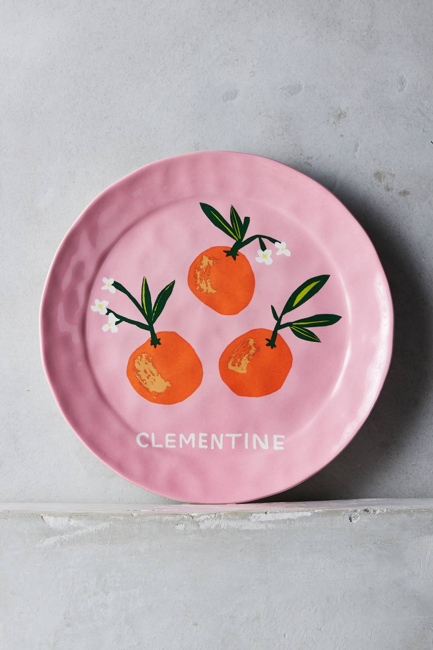 Clementine plate by Danielle Kroll