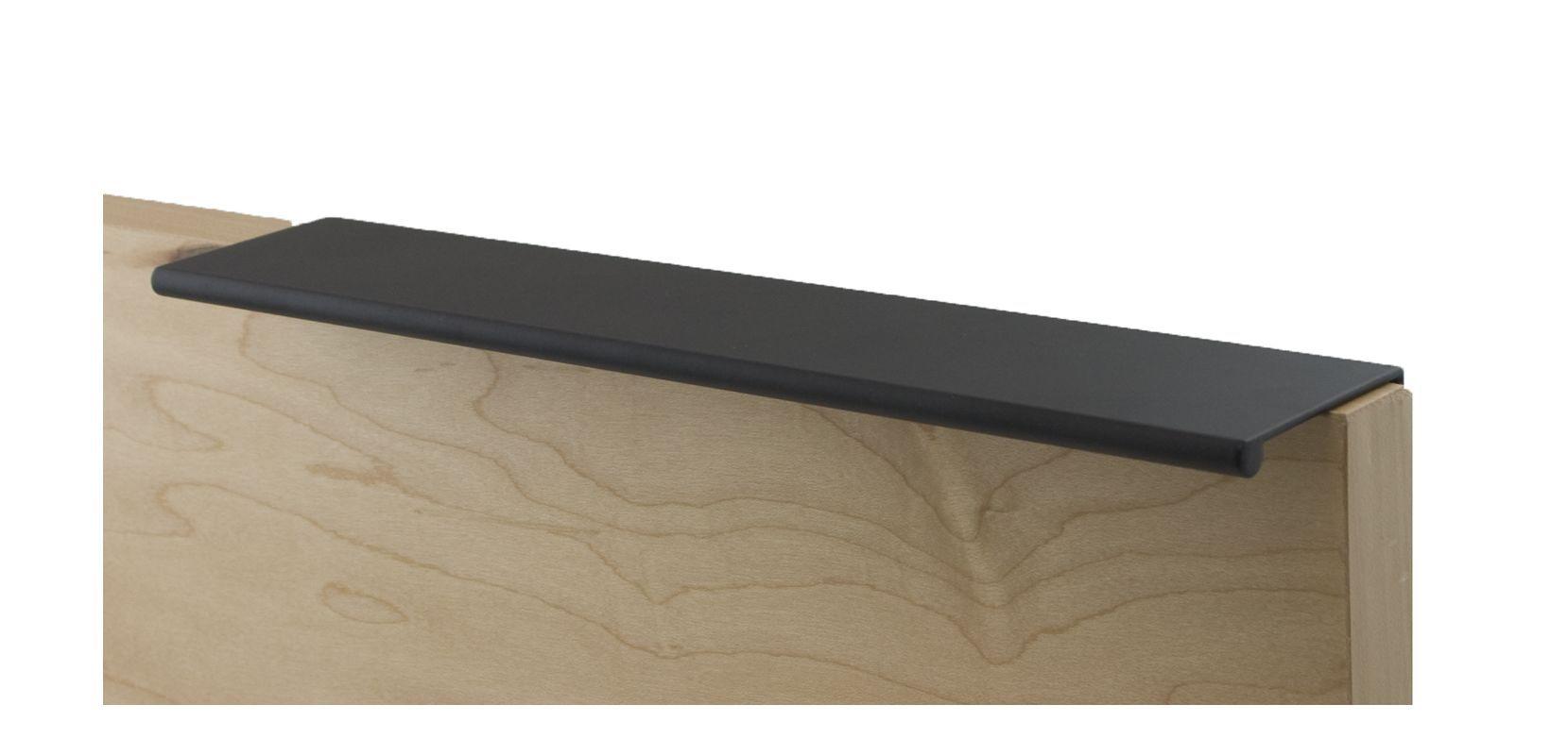 Berenson 1065 Bravo 9-1/16 Inch Long Finger Cabinet Pull Satin Black Cabinet Hardware Pulls Finger