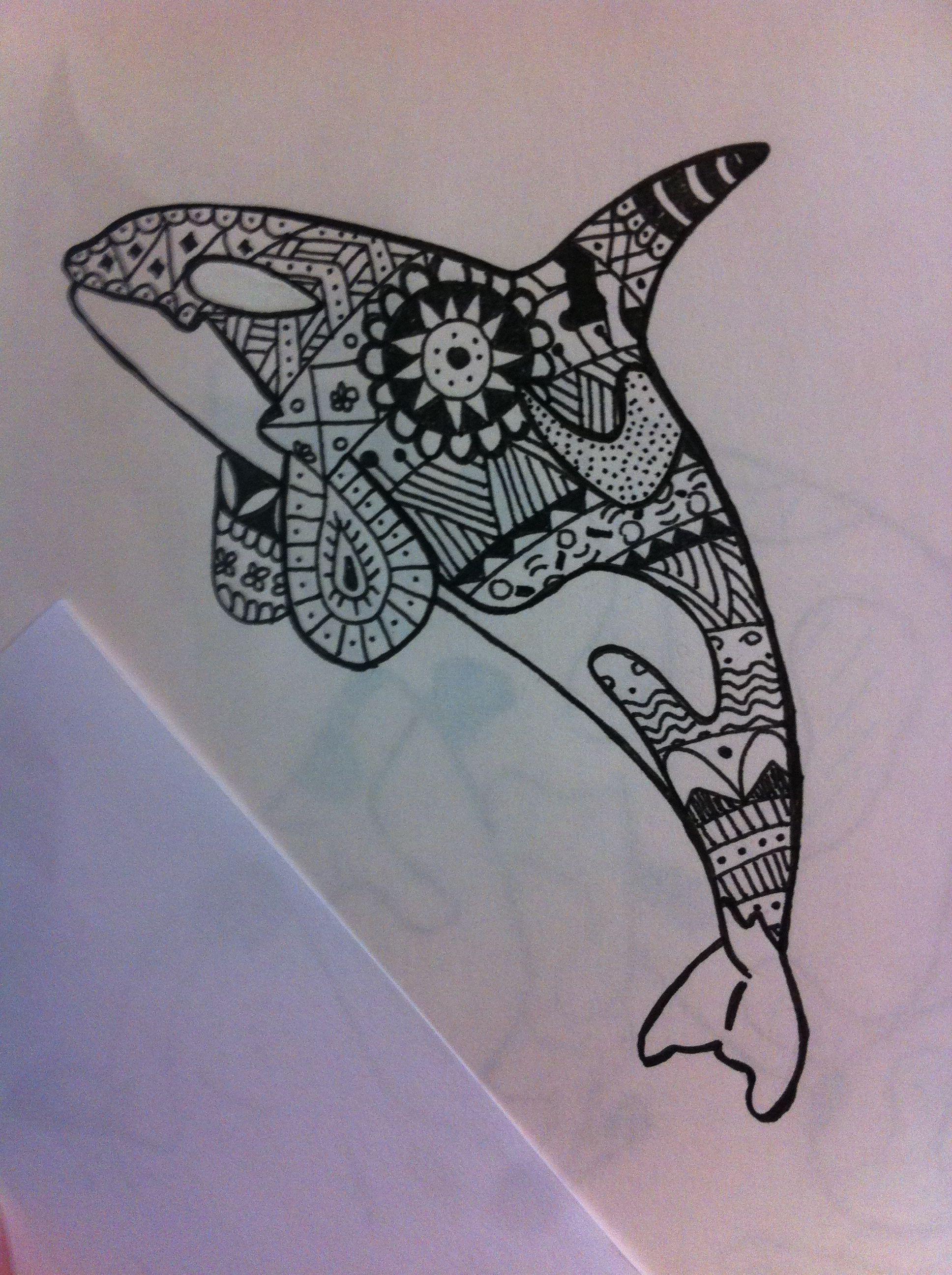 Dibujo de orca, diseñado por mi para mi próximo tatuaje | Ballenas ...