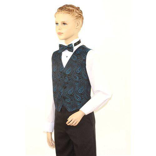 SixStarUniforms Kids Blue Paisley Pattern Vest