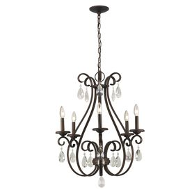 Bathroom Chandeliers Lowes portfolio 5-light olde bronze chandelier (dining) | house