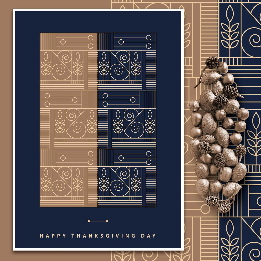 Art Deco Thanksgiving Greeting Card Layout Buy This Stock Template And Explore Similar Template Thanksgiving Greeting Cards Thanksgiving Greetings Card Layout