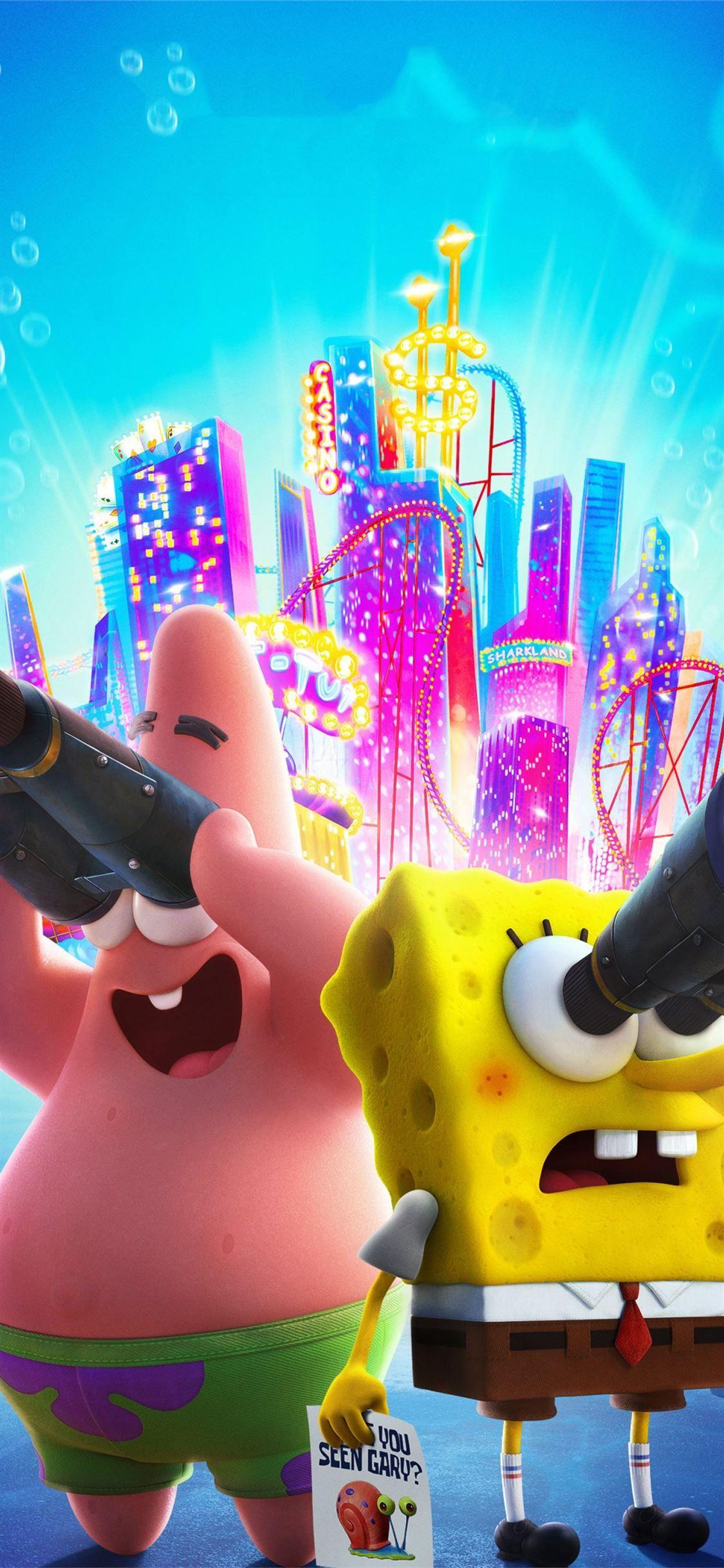 the spongebob movie sponge on the run 2020 iPhone X Wallpapers