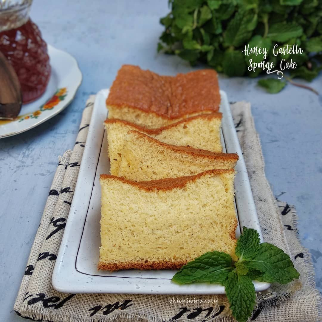 Resep Honey Castella Sponge Cake Sederhana Ala Rumahan By Chichiwiranata Kue Bolu Resep Kue